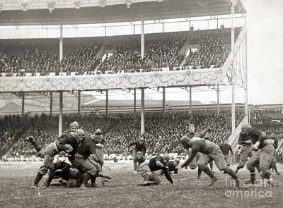 Photograph - Football Game, 1916 by Granger