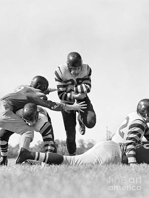 Football Game, C.1950s Art Print by H. Armstrong Roberts/ClassicStock