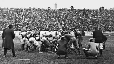 Football Game University Of Pennsylvania Vs Lafayette University C 1896 Art Print by A Gurmankin