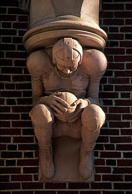 Photograph - Football Gargoyle by Doug Davidson