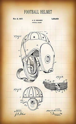 Football Helmet Patent 1927 Art Print