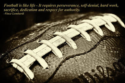 Macros Photograph - Football Is Like Life by David Patterson