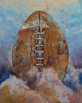 Football Painting - Football by Michael Creese
