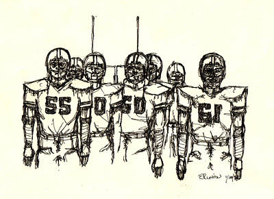 Football Nasties Art Print by Brett H Runion