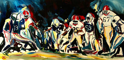Painting - Football Night by John Jr Gholson
