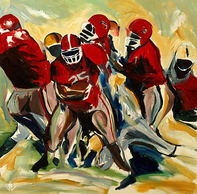 Painting - Football Pack by John Jr Gholson
