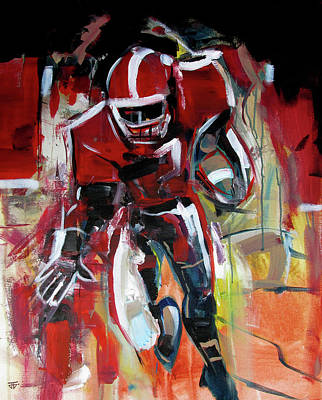 Painting - Football Run by John Jr Gholson
