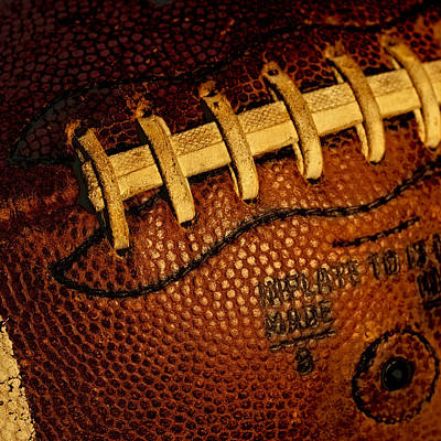 Footballs Closeup Photograph - Football - The Gridiron Tool by David Patterson
