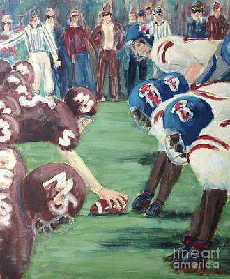 Painting - Football Throwback by Leslie Saucier