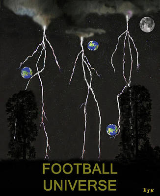 Canadian Sports Mixed Media - Football Universe by Eric Kempson