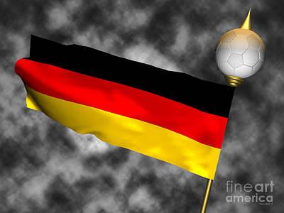 Football World Cup Cheer Series - Germany Art Print by Ganesh Barad