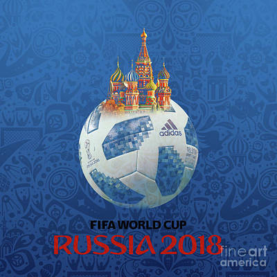 Painting - Football World Cup In Russia  by Gull G