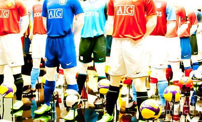 Footballers Unite Art Print