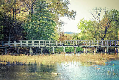 Photograph - Footbridge Across The Water by Colleen Kammerer
