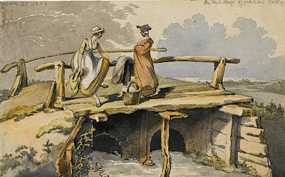 Ockham Drawing - Footbridge At Ockham Surrey by George Shepheard