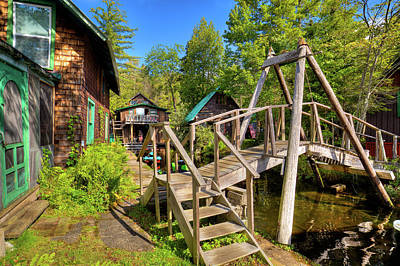 Photograph - Footbridge At Palmer Point by David Patterson