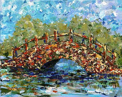 Painting - Footbridge Hilo Hawaii by Diane Thornton