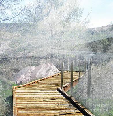 Footbridge In The Clouds Art Print by Deborah Nakano