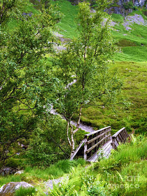 Photograph - Footbridge Near Glencoe by Judi Bagwell