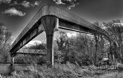 Footbridge  Art Print by Nigel Bangert