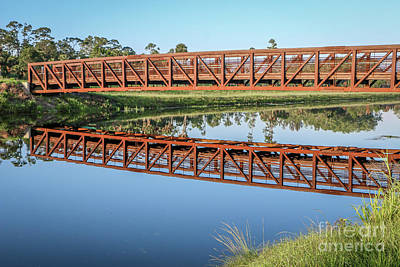 Photograph - Footbridge Reflection by Tom Claud