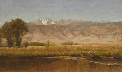 Foothills Painting - Foothills Colorado by Worthington Whittredge