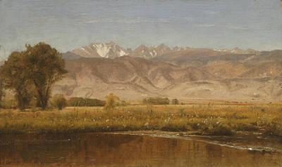 Worthington Painting - Foothills Colorado by Worthington Whittredge