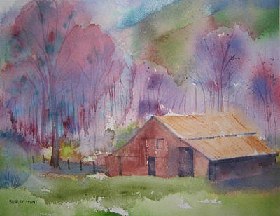 Foothills Farm Ll Art Print
