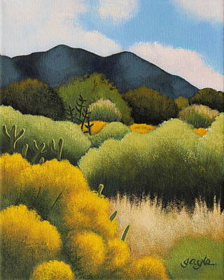 Painting - Foothills Gold by Gayle Faucette Wisbon