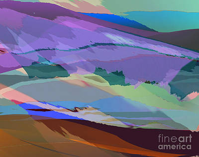Digital Art - Foothills by Jacqueline Shuler