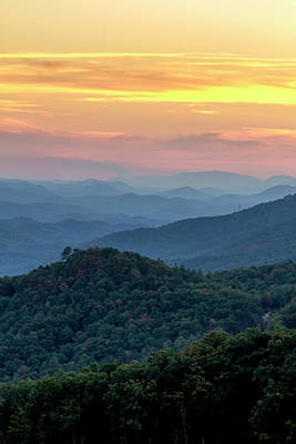 Photograph - Foothills Parkway West Sunset by Teri Virbickis