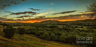 Haybales Photograph - Foothills Sunrise by Robert Bales
