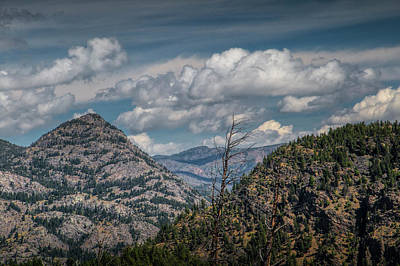 Photograph - Foothills With Puffy Clouds In Yellowstone by Randall Nyhof