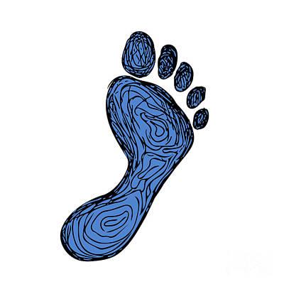 Footprint Digital Art - Footprint Drawing by Aloysius Patrimonio