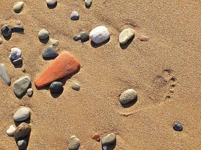 Photograph - Footprint On Sand by Jouko Lehto