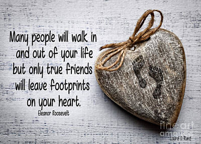 Digital Art - Footprint On Your Heart by Laurel D Rund