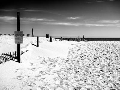 Photograph - Footprints By The Dune by John Rizzuto