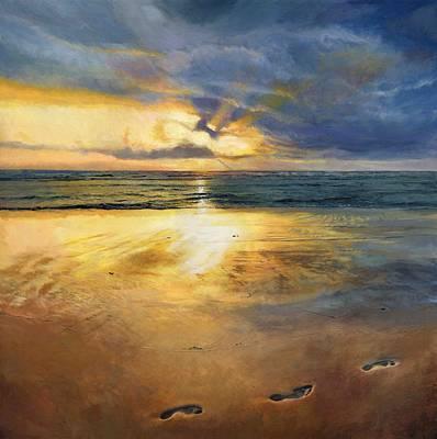 Footprints Print by Helen Parsley