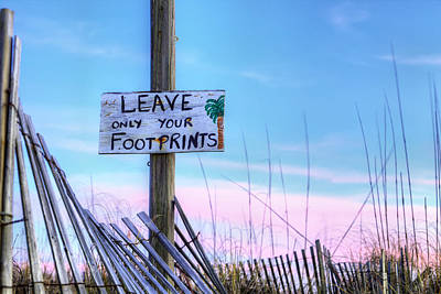 Photograph - Footprints In Fort Morgan by JC Findley