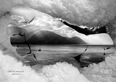 Digital Art - Footprints In Paradise by Melissa Messick