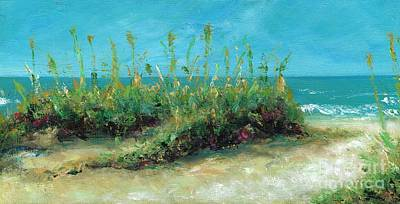Sand Dunes Painting - Footprints In The Sand by Frances Marino