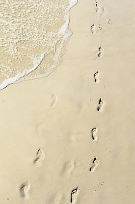 Photograph - Footprints In The Sand by Randy J Heath