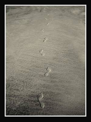 Photograph - Footprints In The Sand by Rosanne Jordan