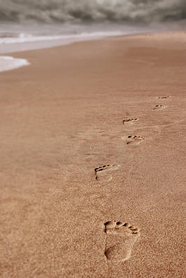 Photograph - Footprints On The Beach by Greg Collins