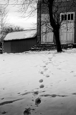 Photograph - Footprints On The Snow And Home by John Williams
