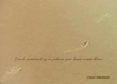 Photograph - Footprints Quote by JAMART Photography