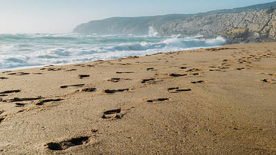 Photograph - Footsteps At Guincho Beach, Portugal, by Alexandre Rotenberg
