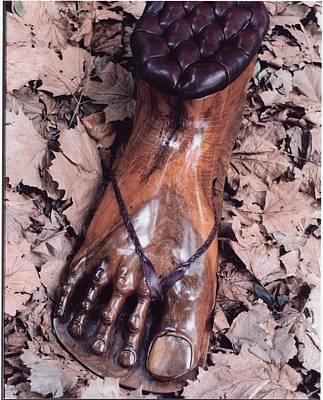 Footstool Art Print by Lionel Larkin