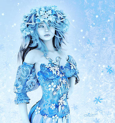 Jutta Pusl Digital Art - For All Winter Friends by Jutta Maria Pusl