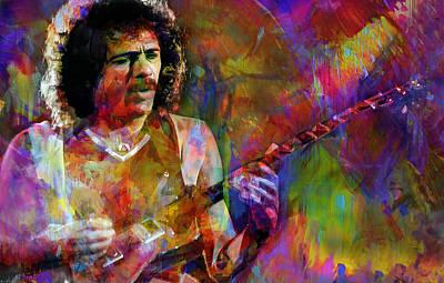 Santana Digital Art - For Carlos by Mal Bray